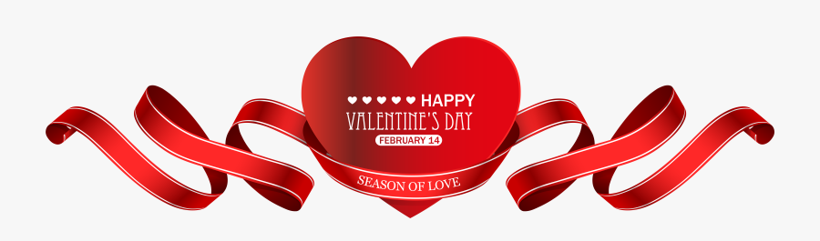 Valentine S Red Heart - Valentine's Day, Transparent Clipart