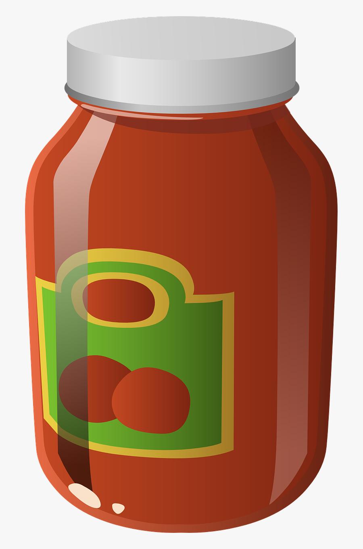 Jar Clipart Spaghetti Sauce - Pasta Sauce Clip Art, Transparent Clipart