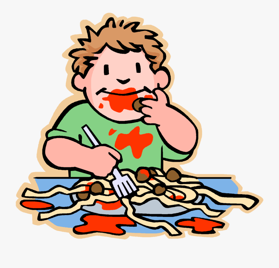 Vector Illustration Of Primary Or Elementary School - Someone Eating Transparent Background, Transparent Clipart
