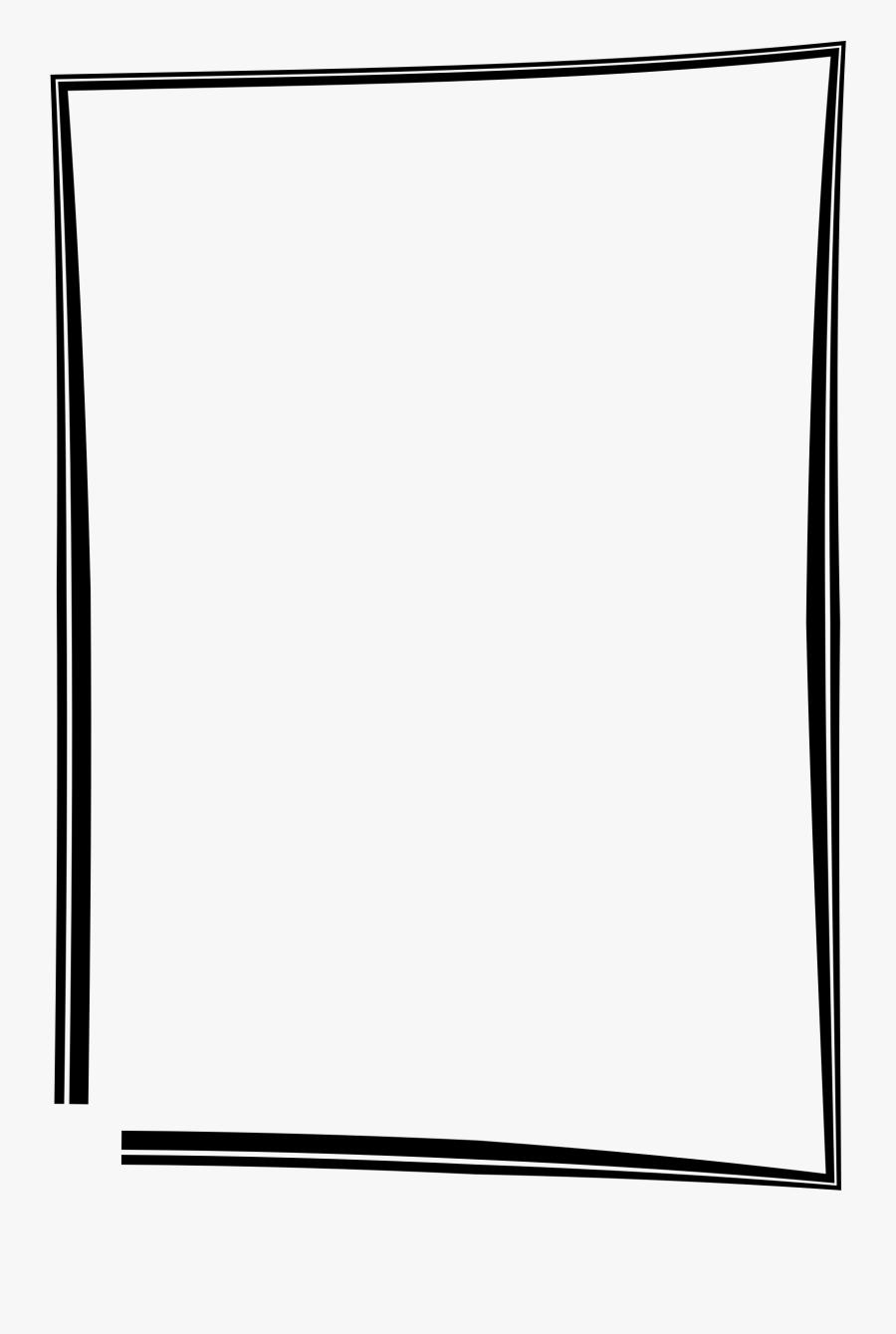 Frame Big Image Png - Simple Frame Borders Design, Transparent Clipart