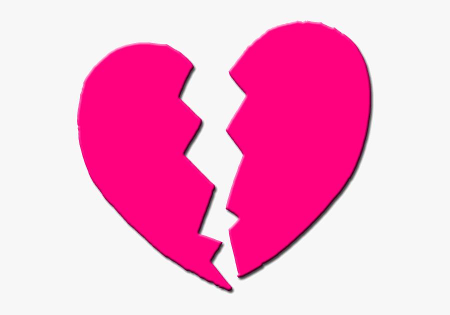 Broken Heart Clipart Wing Clip Art - Pink Broken Heart Png, Transparent Clipart