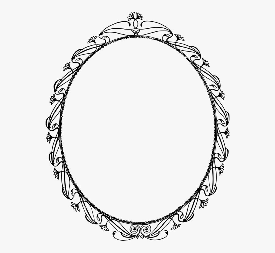 Picture Frame,line Art,monochrome Photography - Circle, Transparent Clipart