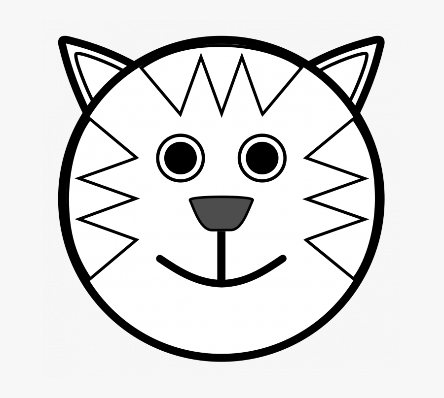 Medium Size Of Simple Animal Cell Drawings Farm Drawing - Lion Face Black And White Clipart, Transparent Clipart