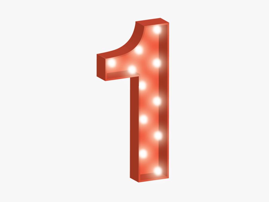 Number 1 Clipart Transparent Background - Red Number 1 Png, Transparent Clipart