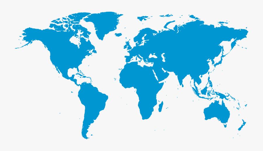 Blue World Globe Map Free Png Hq - Human Development Index Map 2018, Transparent Clipart