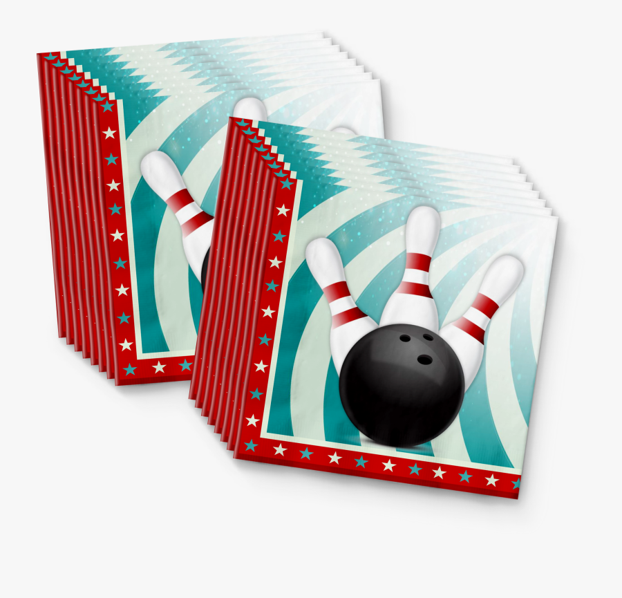 Bowling Fun Birthday Party Tableware Kit For 16 Guests - Ten-pin Bowling, Transparent Clipart