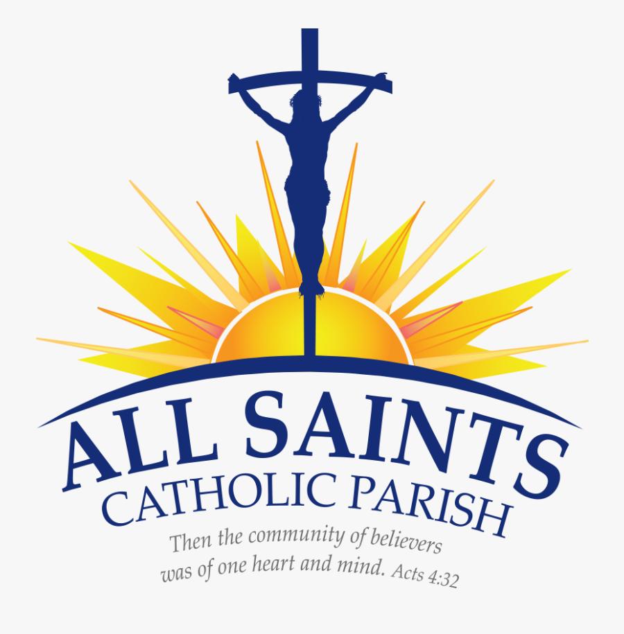 All Saints Catholic Parish - All Saints Catholic Church Logo, Transparent Clipart