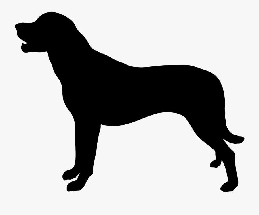 Icon Labrador Png , Transparent Cartoons - Silhouette Of A Boxer Dog, Transparent Clipart