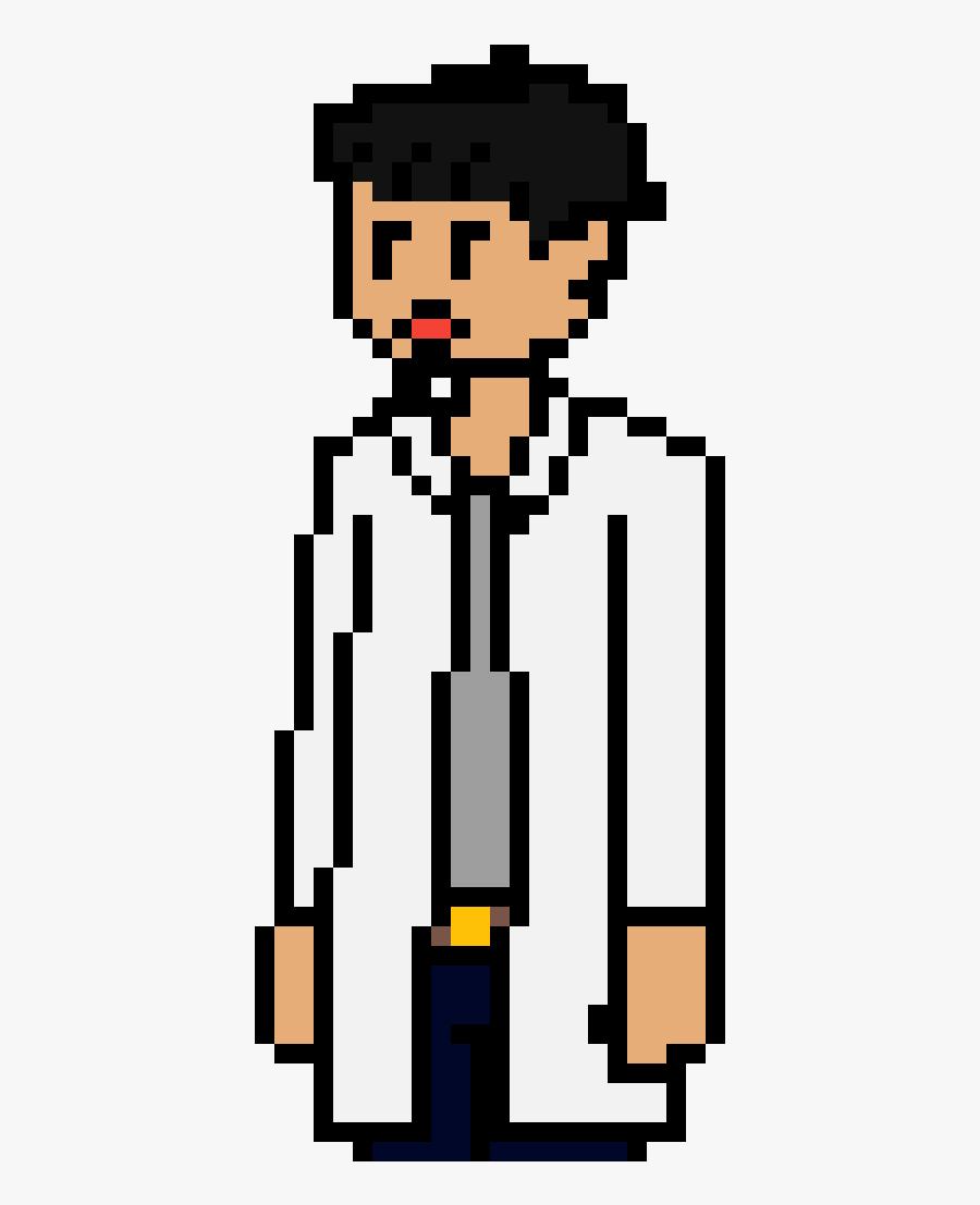 Scratch Proj - Character - Dr William - Scratch Clipart - Derpy Pikachu Pixel Art, Transparent Clipart