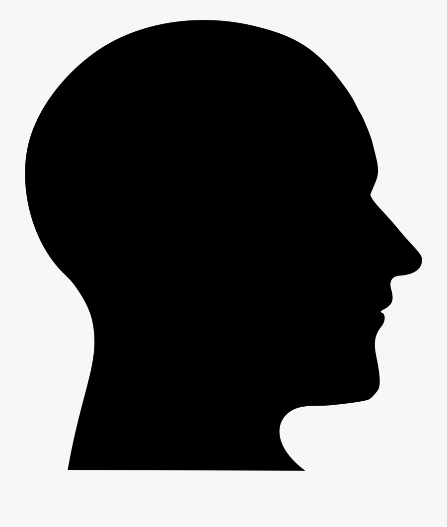 Silhouette Man Head - Human Head Vector Png, Transparent Clipart