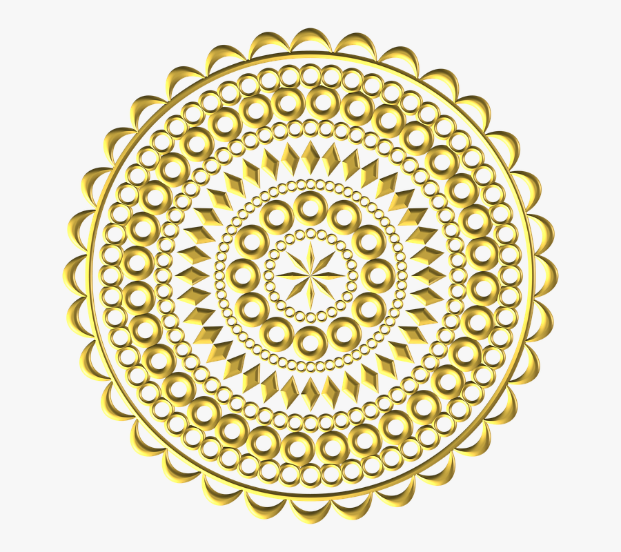 God, Circles, Intricate, Delicate, Design, Graphic - Circulo Detalhado Png, Transparent Clipart