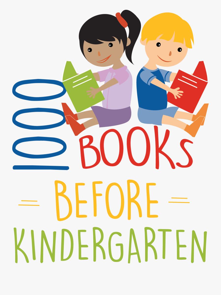 Books Before Library - 1000 Books Before Kindergarten, Transparent Clipart