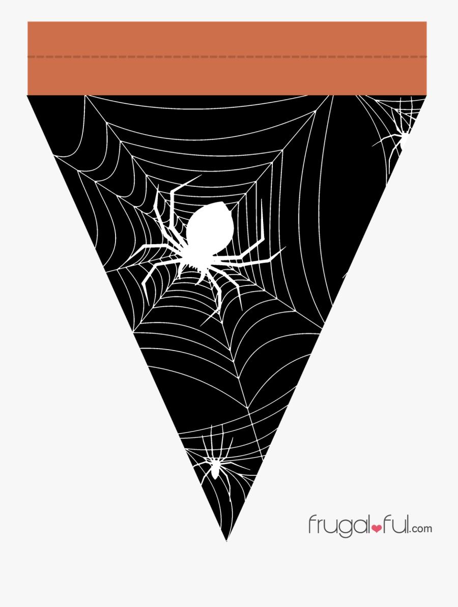 Transparent Halloween Garland Png - Halloween Triangle Banner Printable, Transparent Clipart
