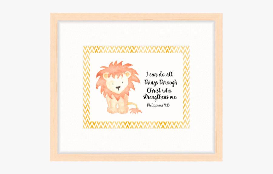 Baby Lion Illustration Watercolour, Transparent Clipart