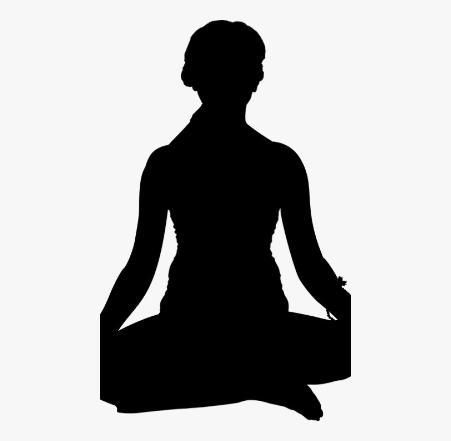 Meditation Silhouette Person Yoga Full Figured Female Silhouette Free Transparent Clipart Clipartkey