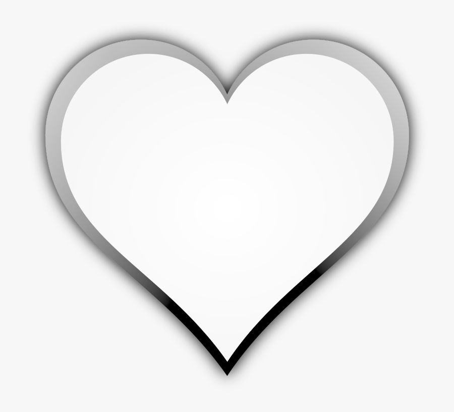 Black And White Heart White Heart Icon Vector Png Free