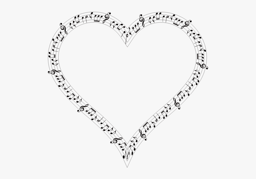 Musical Heart Mark Ii - Music Note Heart Png, Transparent Clipart