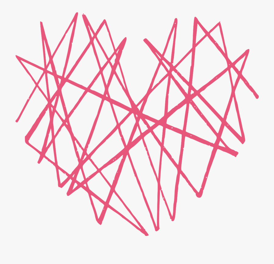 #heart #abstract #line #lines #4asno4i #remixme #remixit - Heart Abstract, Transparent Clipart