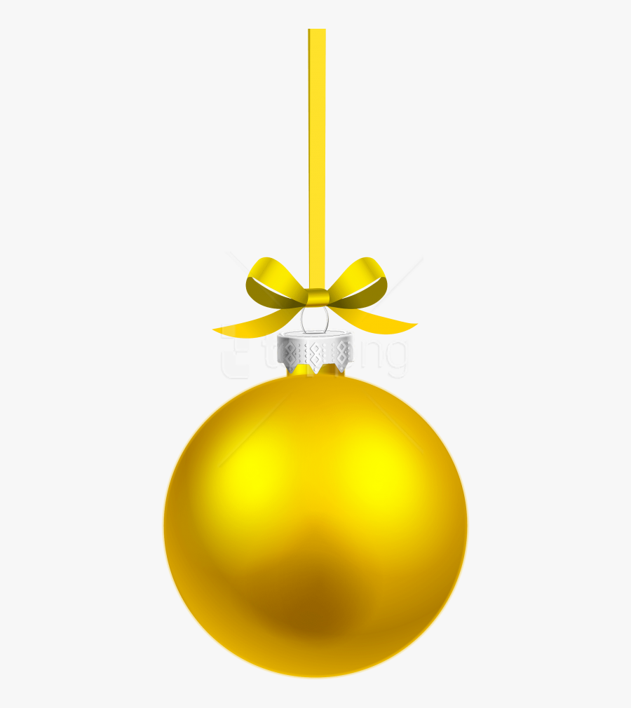 Christmas Ornament Black And White Clipart Hanging - Gold Christmas Ball Png, Transparent Clipart