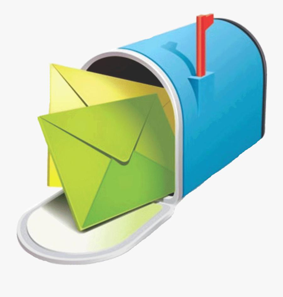 Mailbox Clipart Full Mailbox - Direct Mail Marketing, Transparent Clipart
