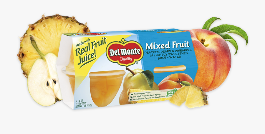 Mixed Fruit, Fruit Cup® Snacks - Monte, Transparent Clipart