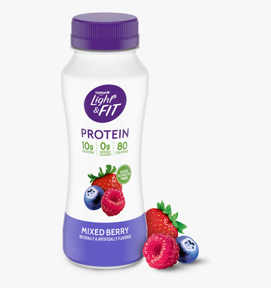 Mixed Berry Protein Smoothie - Plastic Bottle, Transparent Clipart