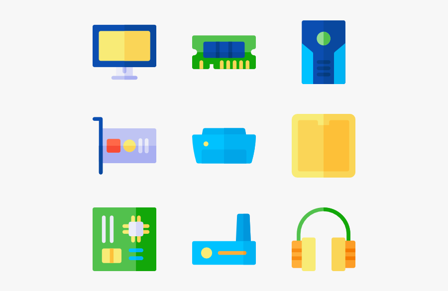 Computer Parts Clipart Hd Yellow Free Transparent Clipart Clipartkey