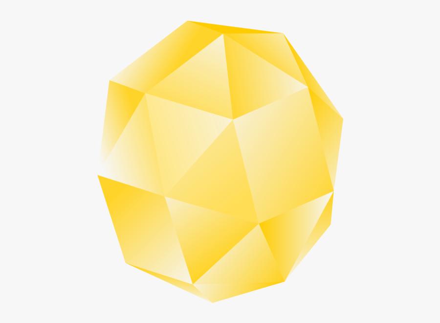 Angle,symmetry,yellow - Yellow Gemstone Clip Art, Transparent Clipart