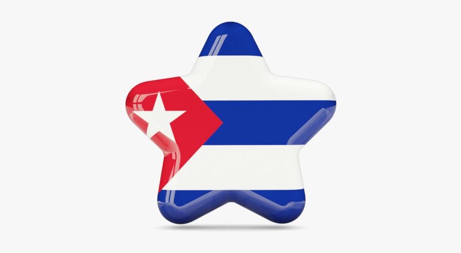 Download Flag Icon Of Cuba At Png Format - Cuba Flag In Star, Transparent Clipart