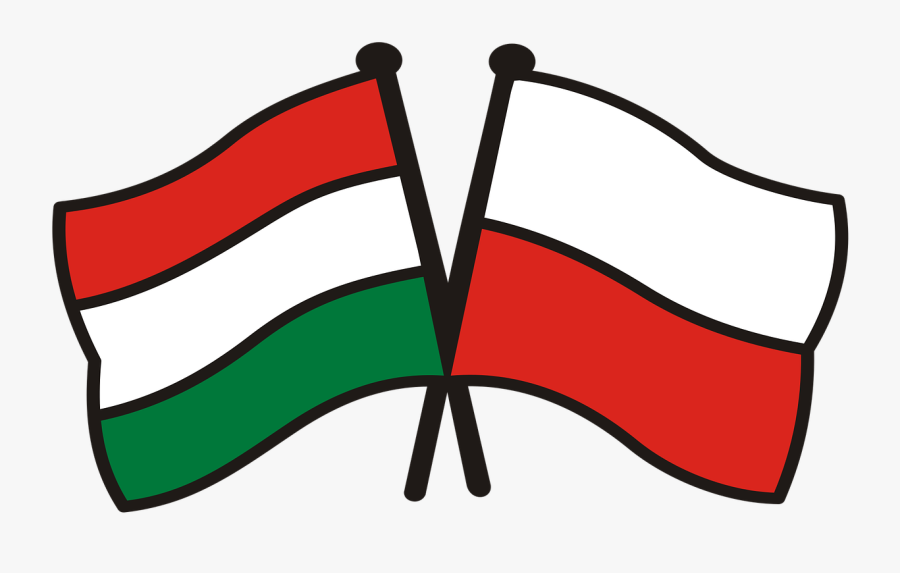 Poland Hungary Flags National Colors Free Photo - Russia And India Flag, Transparent Clipart
