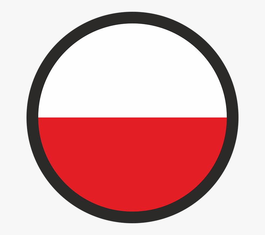 Flag, Poland, The Nation, Polish Flag, Flag Of Poland - Circle, Transparent Clipart