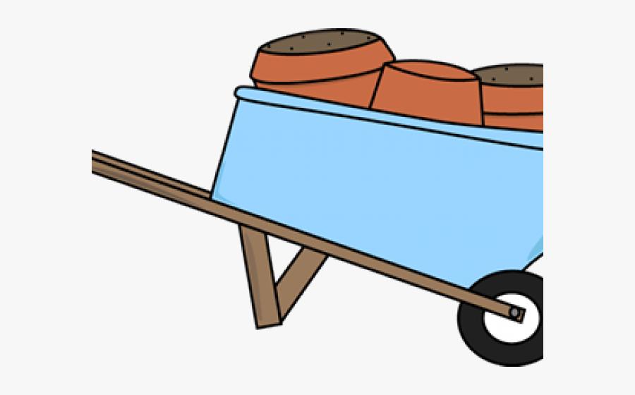 Flower Clipart Planter - Clip Art Flower Cart With Wheels, Transparent Clipart
