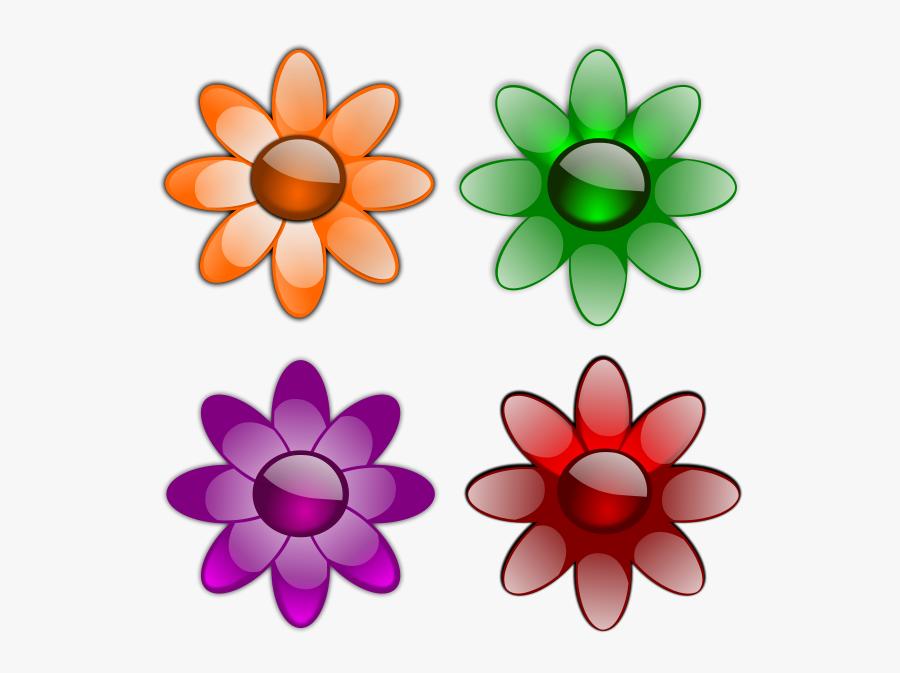 Gloss Flowers 1 Png Images - Flowers Clip Art, Transparent Clipart