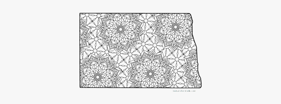 Free Printable North Dakota Coloring Page With Pattern - Adult Coloring Pages North Carolina, Transparent Clipart