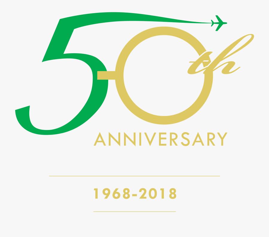 Clip Art 50th Images - 50th Anniversary Logo 1968, Transparent Clipart