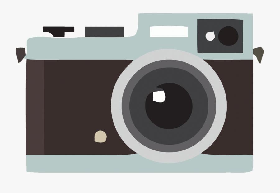 Vector Creative Flat Retro Camera Png Download - Retro Camera Png, Transparent Clipart