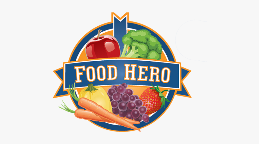 Fruits And Vegetables Clipart Individual - Food Hero Logo, Transparent Clipart