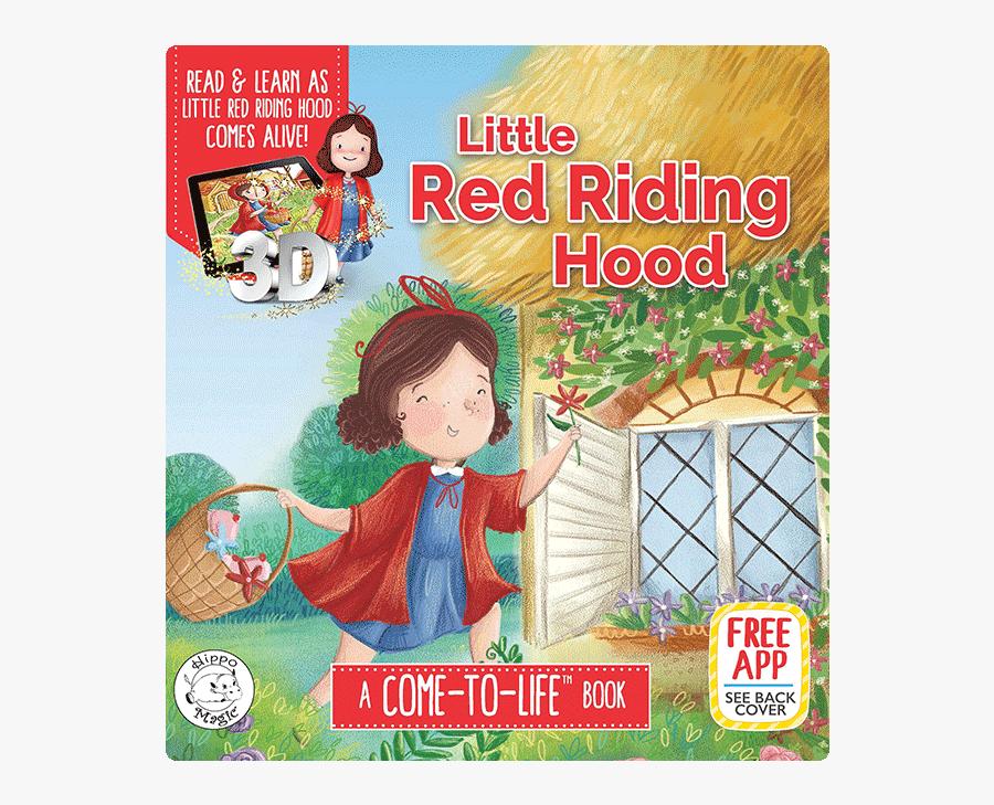 Little Red Riding Hood Book, Transparent Clipart
