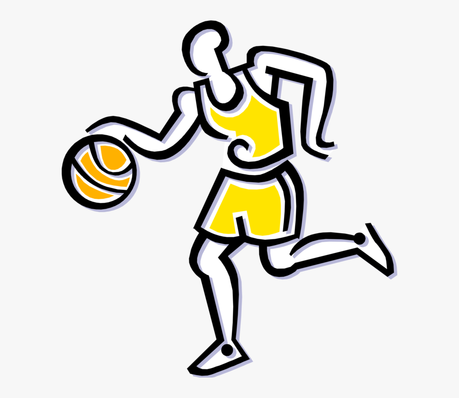 Vector Illustration Of Sport Of Basketball Game Player - Basketball Player, Transparent Clipart