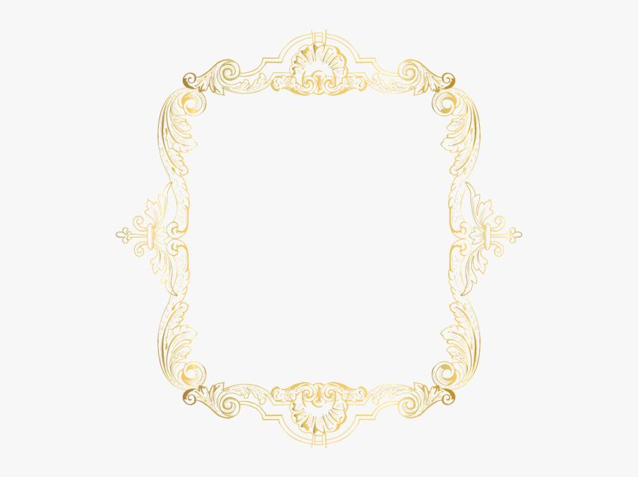 Square Gold Frame Png - Motif, Transparent Clipart