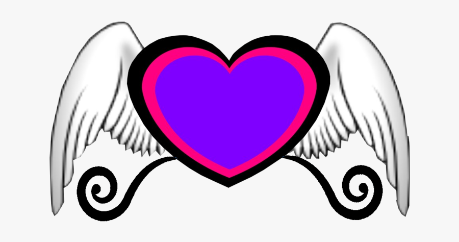 Hearts With Wings, Transparent Clipart