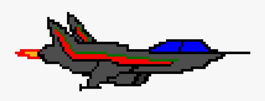 F 16 Pixel Art, Transparent Clipart