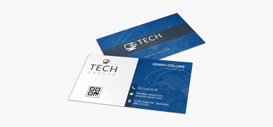 Clip Art Computers Business Cards - Sample Business Cards Computer Repair, Transparent Clipart
