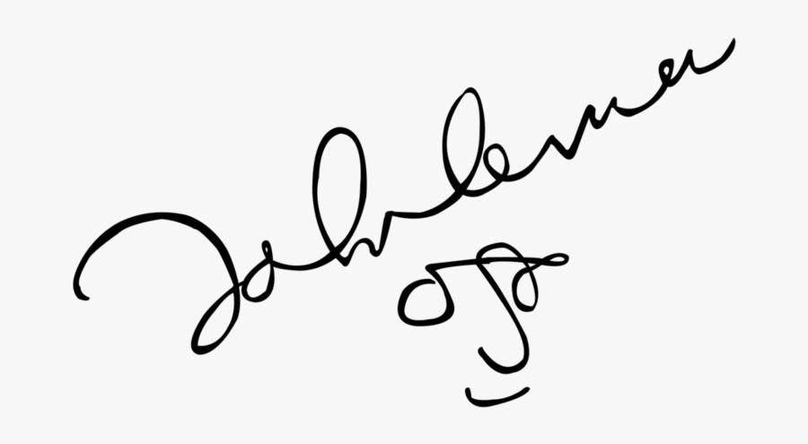 Transparent John Lennon Png John Lennon Signature Transparent Free Transparent Clipart Clipartkey