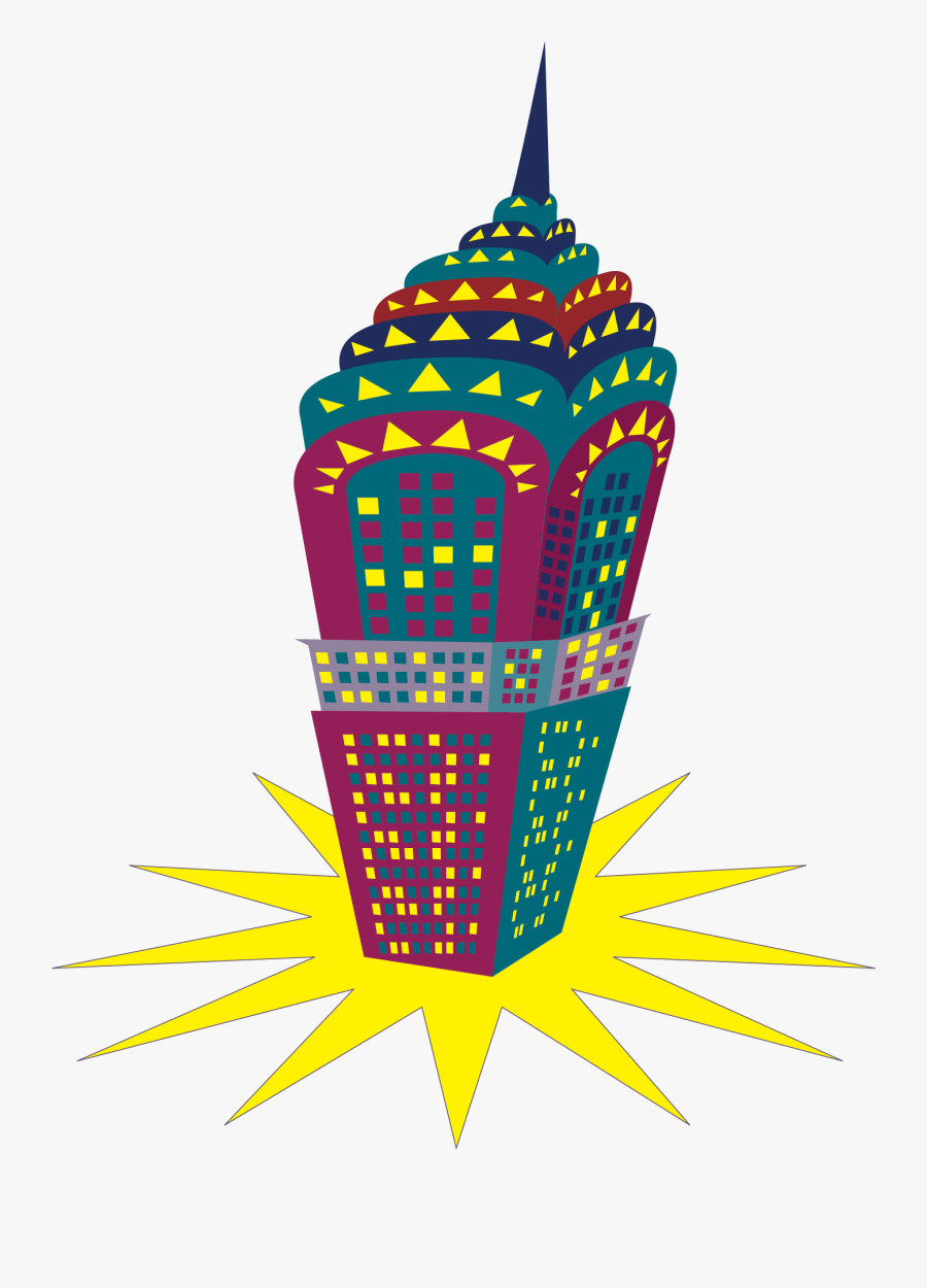 Jpg Royalty Free Empire State Building At Getdrawings, Transparent Clipart