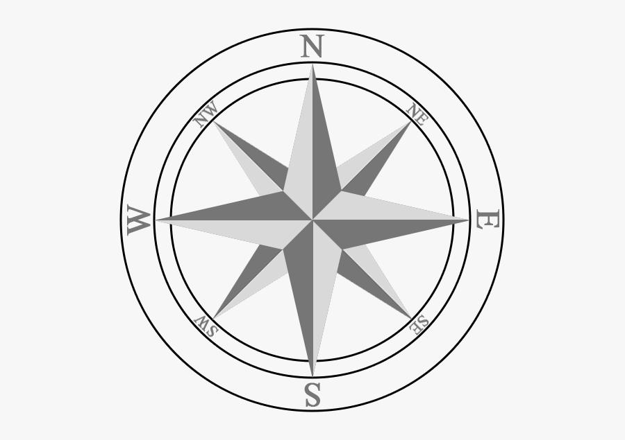 Drawing Transparent Compass - Compass Rose Transparent, Transparent Clipart