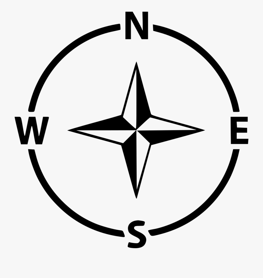 Compass Icon Navigation - North South East West Icon Png, Transparent Clipart