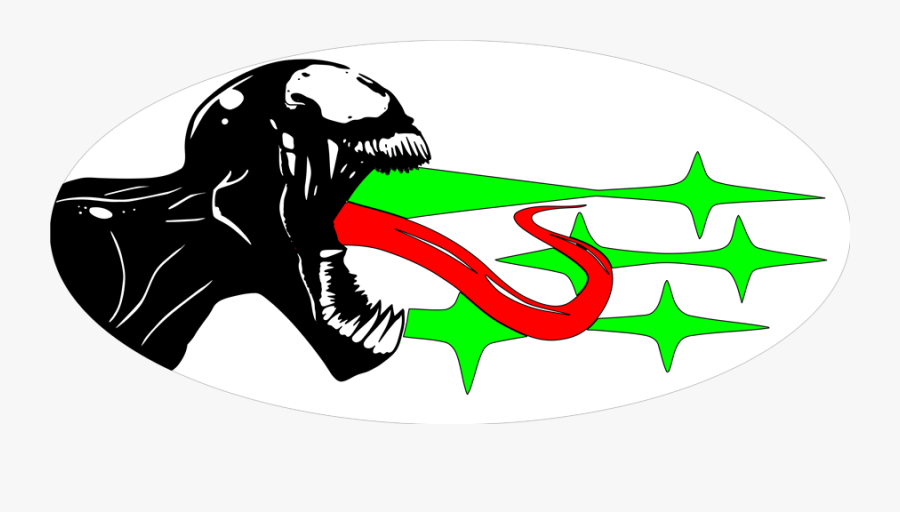Venom Subaru Emblem Overlay Set - Illustration, Transparent Clipart