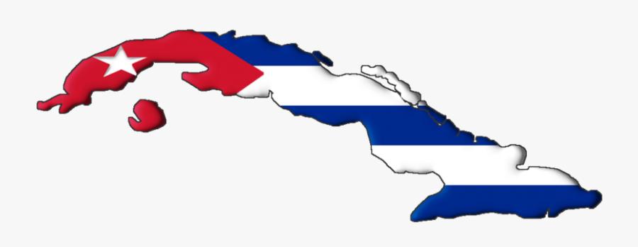 """Economic""""s Impact On The Cuban Revolution - Cuba Flag Map, Transparent Clipart"""