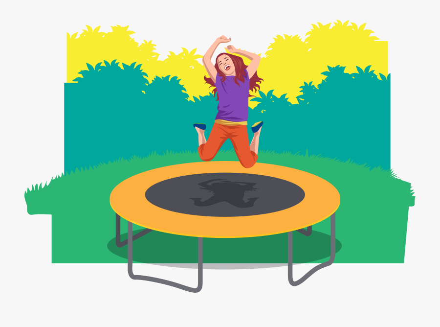 Trampolining People Who Jump - Portable Network Graphics, Transparent Clipart